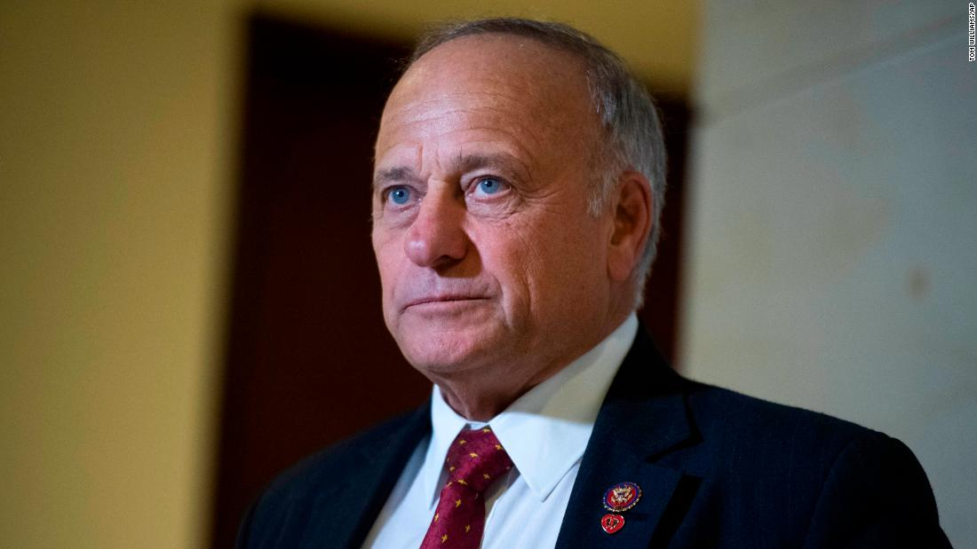 Rep. Steve King, R-Iowa, attends a news conference in the Capitol Visitor Center on Wednesday, Oct. 16, 2019. (Photo By Tom Williams/CQ Roll Call via AP Images)