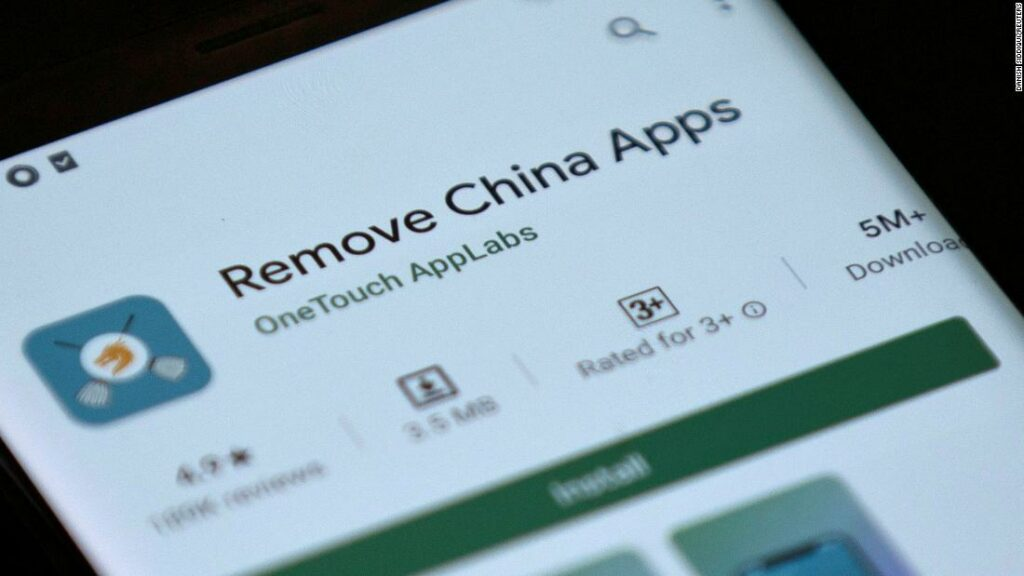 'Remove China Apps' software taken down by Google