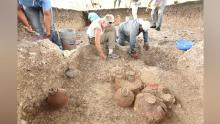 In addition to mapping Aguada Fenix from the sky, the team also excavated the site, discovering ceramic ships and other objects.
