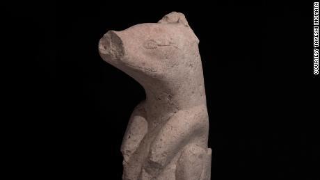 Stone sculpture found in Aguada Fenix in 1000-700 BC