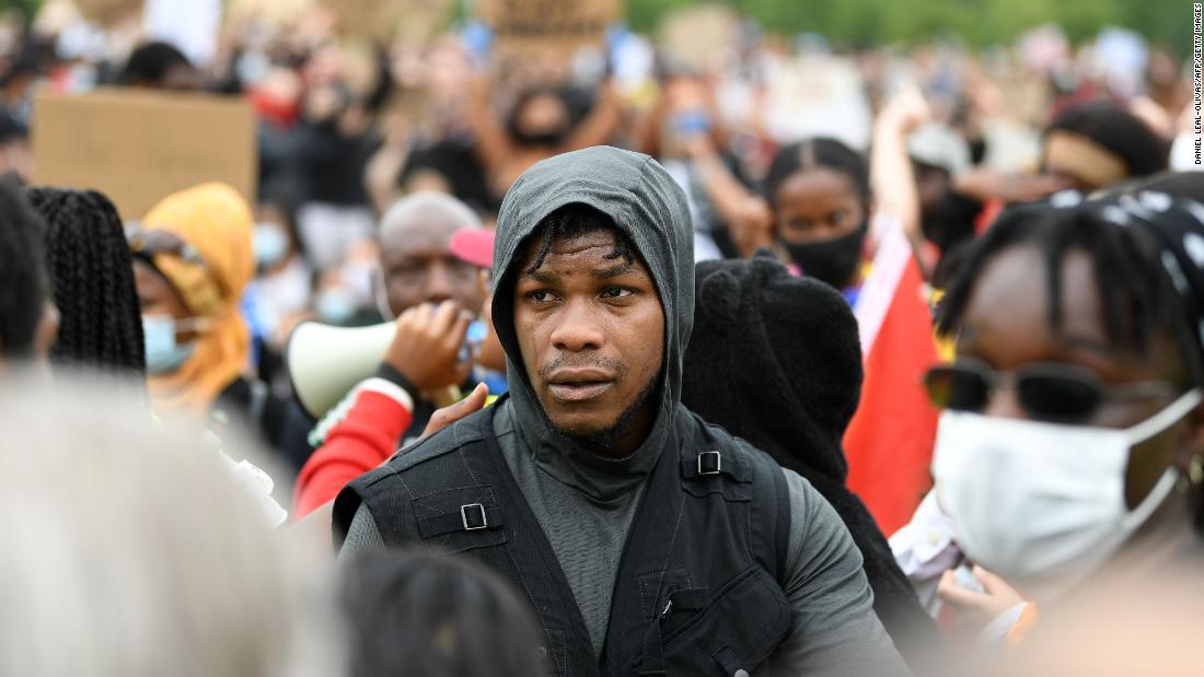 John Boyega tells London Black Lives Matter protesters: