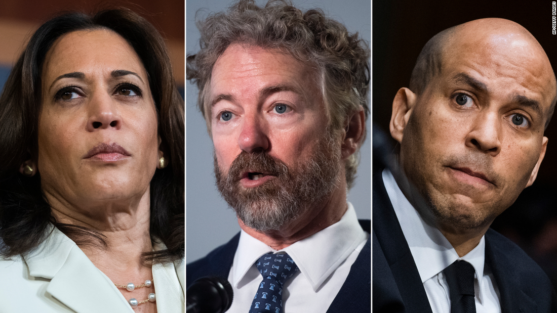Paul holds up anti-lynching bill. See Harris and Booker's response.