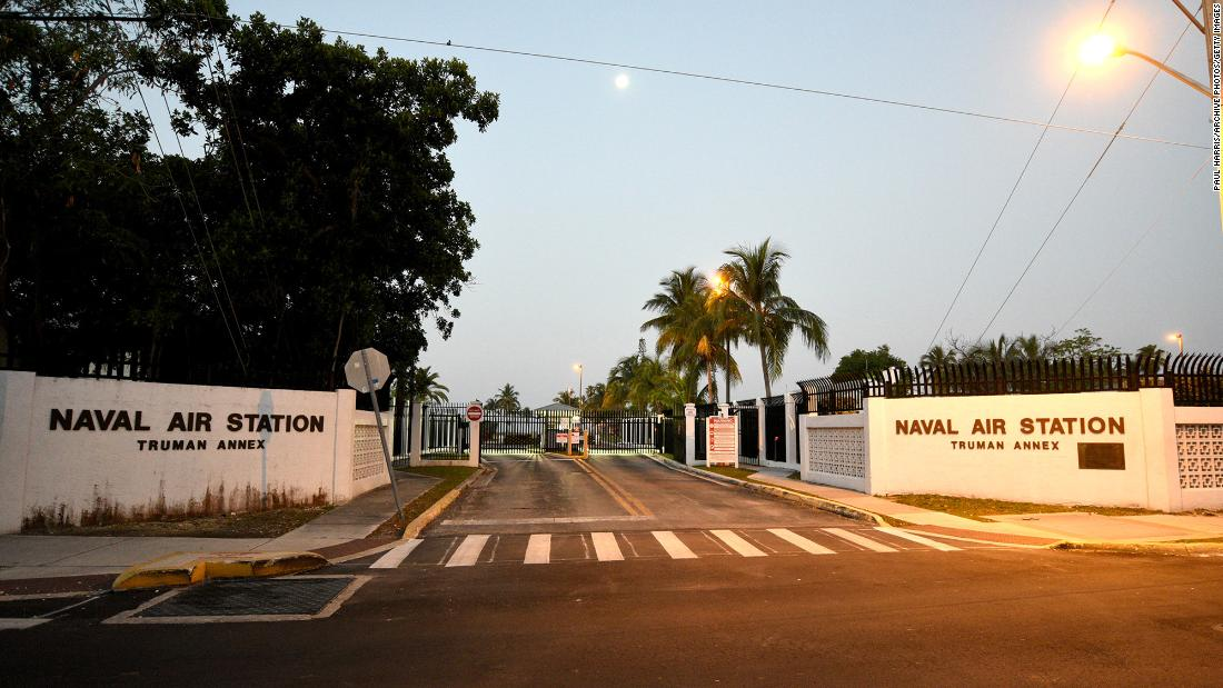 Three Chinese nationals were sentenced to prison for entering a restricted area at this naval base in Key West, Florida.