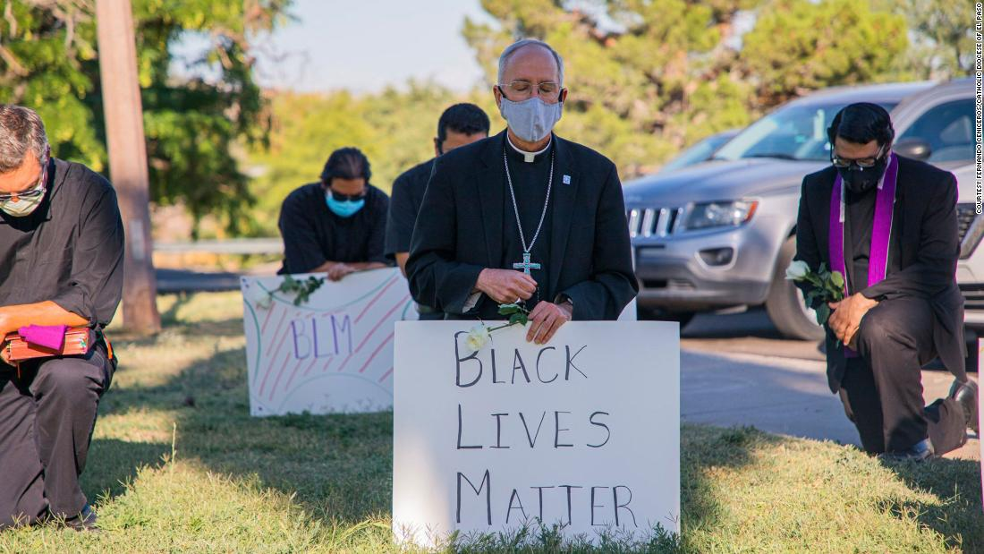 A bishop of El Paso knelt in prayer for George Floyd. Two days later, Pope Francis called