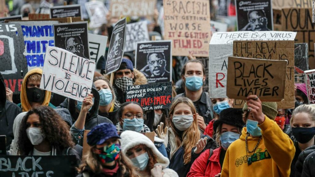 The London Black Lives Matter protest attracts thousands of people