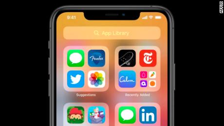 iOS 14 offers a new feature called App Library, which automatically organizes the apps on your home screen.