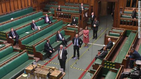 Lawmakers returned to the House of Commons to vote on Tuesday.