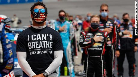 Bubba Wallace spoke out against the display of the Confederate flag in NASCAR events, which NASCAR banned in June 2020.