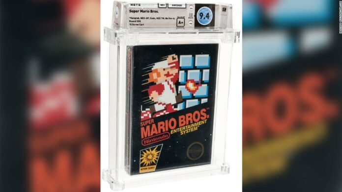 A rare, unopened Super Mario Bros. video game sold for $114,000