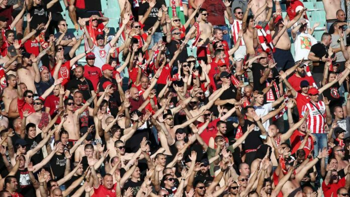 Fans flout social distancing rules at Bulgarian Cup final