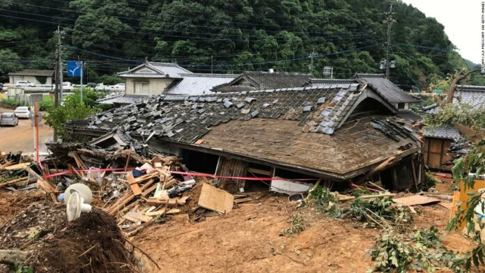 Japan floods kill at least 18 people after record-breaking rainfall