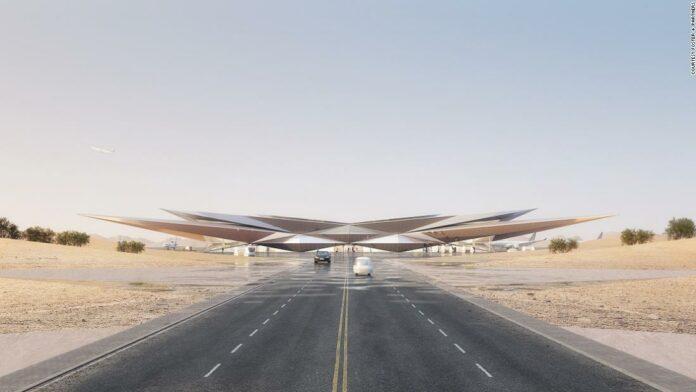 New Saudi Arabia airport design reveaeled