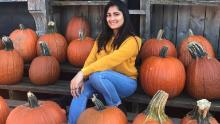 Maitri Parsana in the United States, where she has studied at the University of Buffalo for three years.