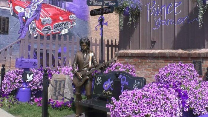The town where a famous 'Purple Rain' scene was filmed