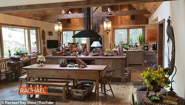 Open-plan: Rachel made her kitchen just how she wanted it ...by designing it on a piece of paper