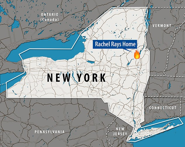 The home is located in upstate New York, about half an hour's drive north of Saratoga Springs