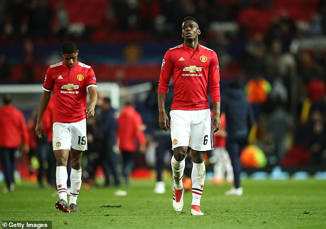 Manchester United were stunned by Sevilla at Old Trafford in the 2018 Champions League