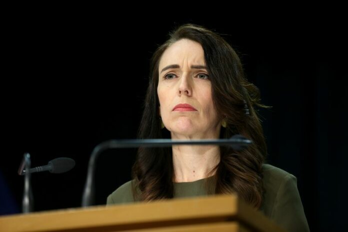 Prime Minister Jacinda Ardern speaks to media during a press conference at Parliament in Wellington, New Zealand on August 17.