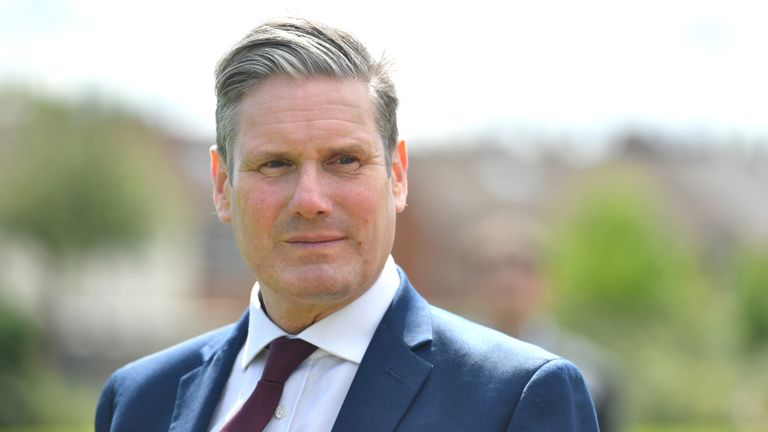 Labour Party leader Keir Starmer during a visit to Whitmore Park Primary School in Coventry.