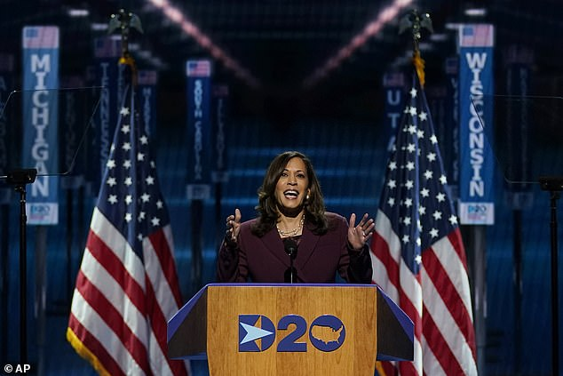 Kamala Harris on Wednesday night accepted the nomination for vice presidential candidate
