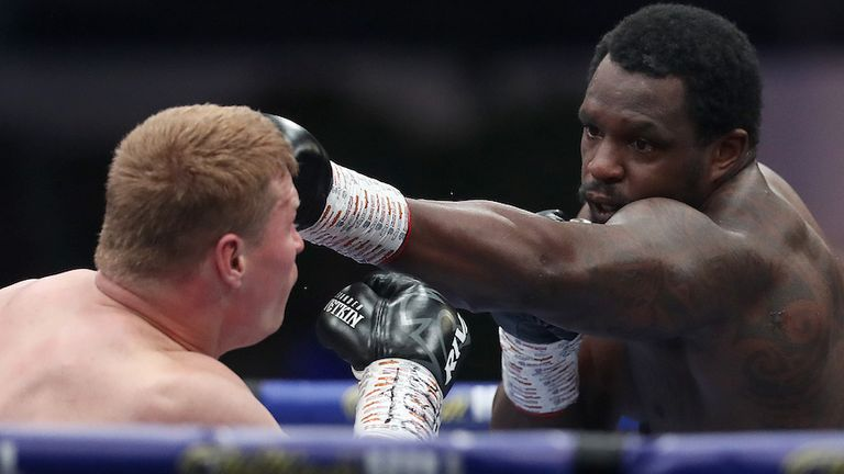 Whyte had floored Povetkin twice