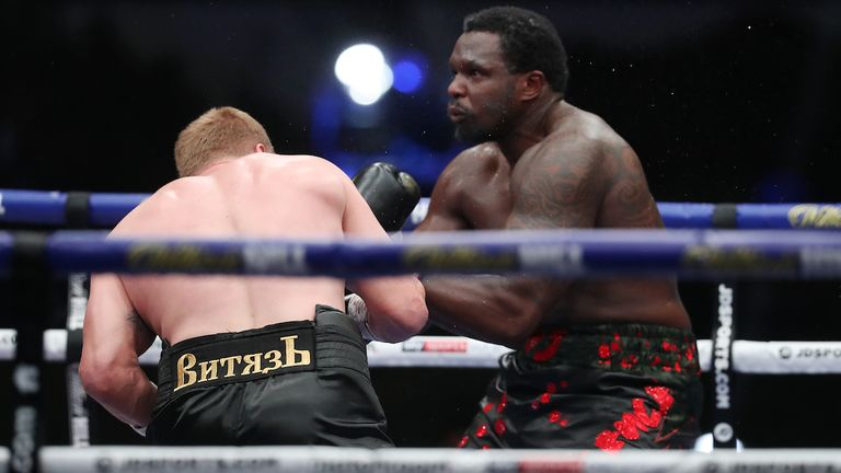 Povetkin stopped Whyte in the fifth round