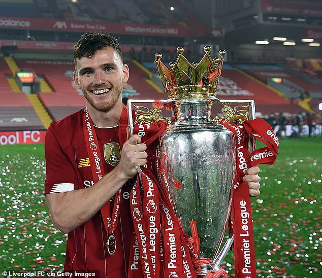 Chilwell's story has been compared to Liverpool and Scotland star Andy Roberston's (above)