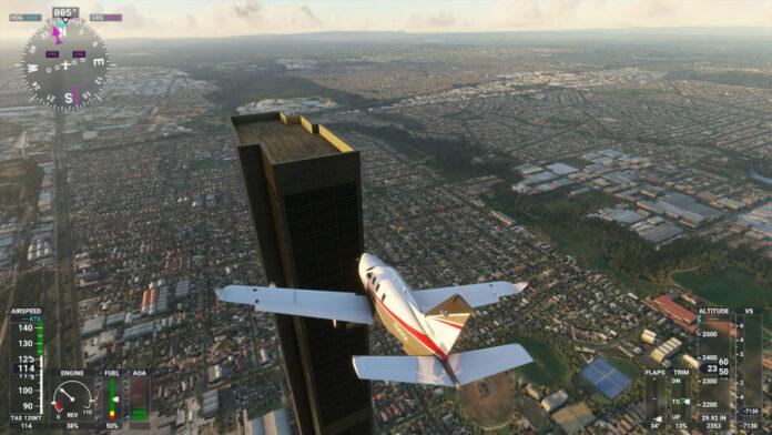 A typo created a 212-story monolith in 'Microsoft Flight Simulator'