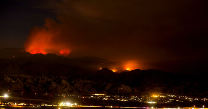 Apple Fire in Southern California started by diesel vehicle malfunction