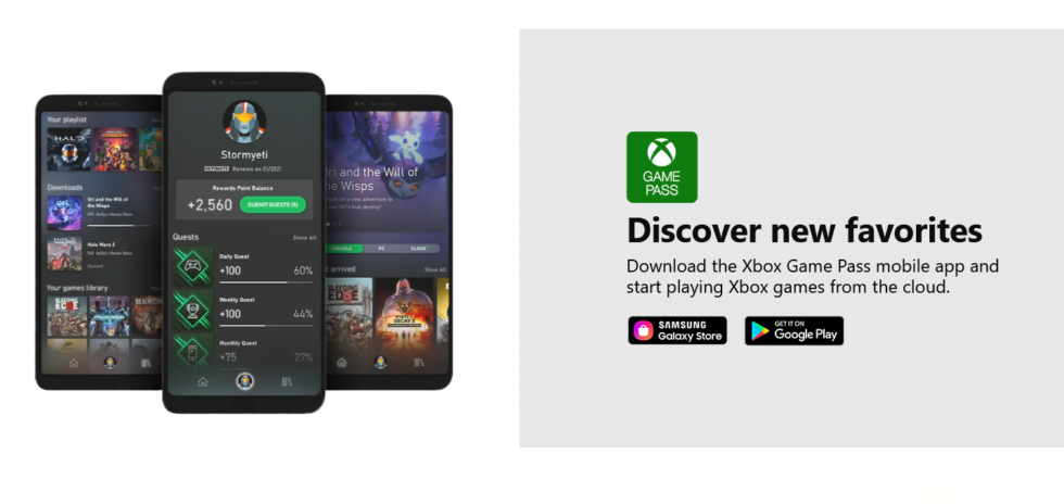 The Xbox Game Pass. Available on the Google Play Store and even the Samsung Galaxy Store, but not Apple's App Store.