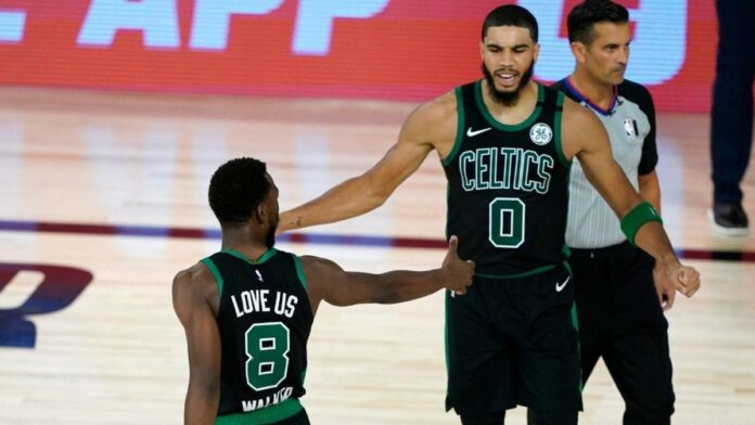 Celtics vs. 76ers score, takeaways: Jayson Tatum and Jaylen Brown lead Boston to victory in Game 1