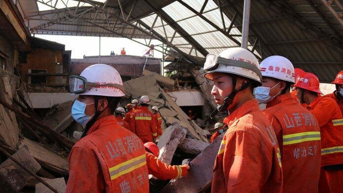 China restaurant collapses during 80th birthday party, leaving 29 dead, dozens injured