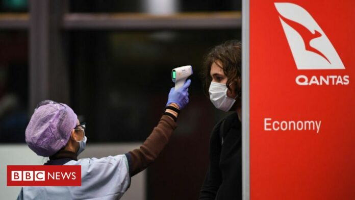 Coronavirus-hit Qantas posts £1bn annual loss