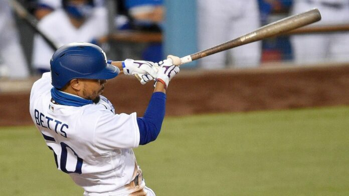 Dodgers' Mookie Betts hits 3 home runs in a game for record-tying sixth time