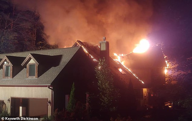 Warren County Sheriff's Office has confirmed there is a fire at a house on Chuckwagon Trail in Lake Luzerne New York belonging to celebrity chef and TV personality Rachael Ray