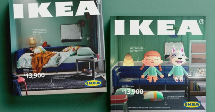 Ikea gives its 2021 catalog an Animal Crossing-themed makeover in Taiwan