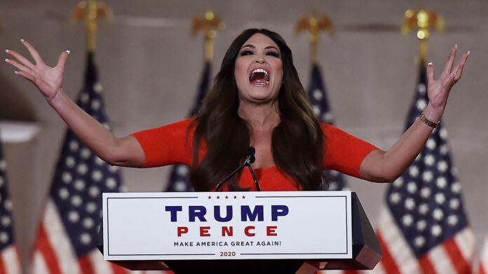 Kimberly Guilfoyle Shouts Unhinged RNC Speech at the Top of Her Lungs