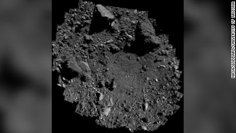 This is the Nightingale site on Bennu where the sample will be collected.