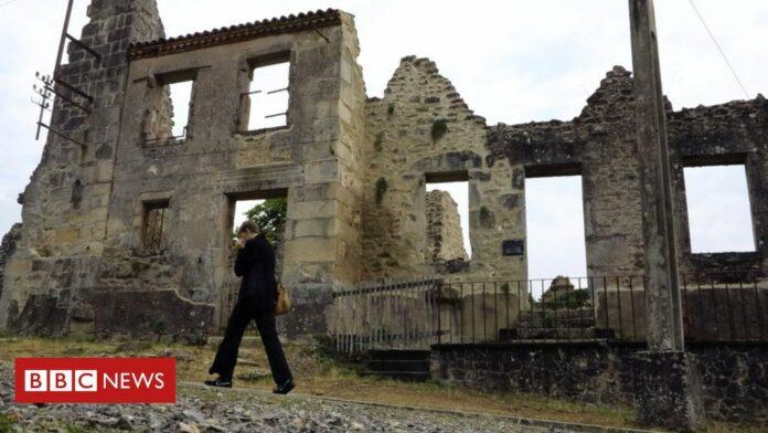 Oradour-sur-Glane: Uproar after France Nazi massacre site vandalised