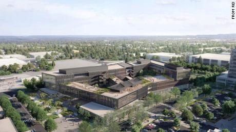 Rendering of REI's campus in Bellevue, Washington.