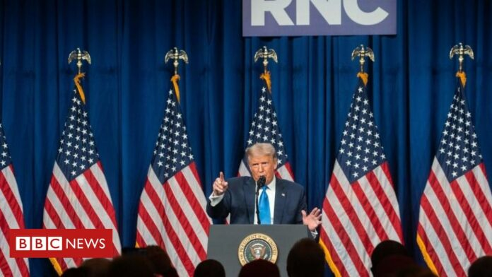 RNC 2020: Trump warns Republican convention of 'rigged election'