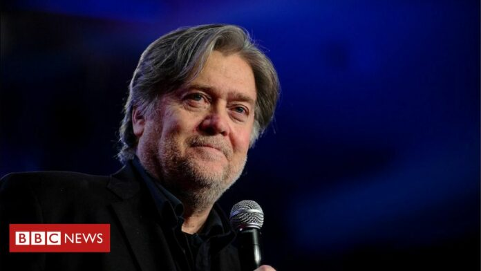 Steve Bannon charged with fraud over Mexico wall funds