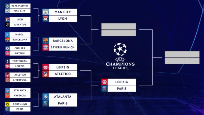 UEFA Champions League bracket, schedule: Tyler Adams wins it for RB Leipzig; PSG up next in semis