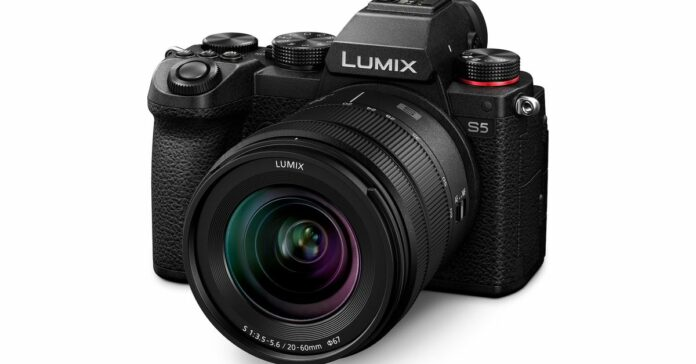 Panasonic's Lumix S5 is a more compact full-frame mirrorless camera