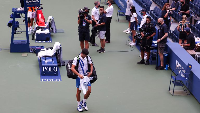 Novak Djokovic walked out of court after being declared unfit