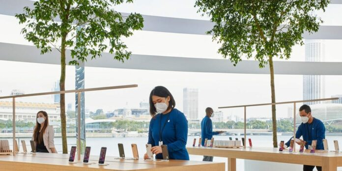 Apple designs face masks with a 'unique' look for retail employees