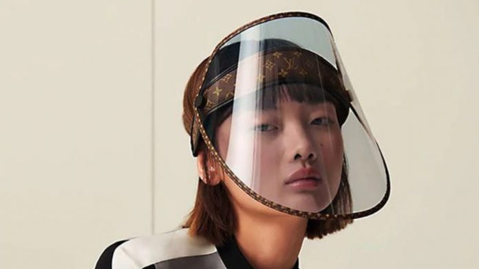 Louis Vuitton Luxury Face Shield Rolling Out, costs about $ 1,000