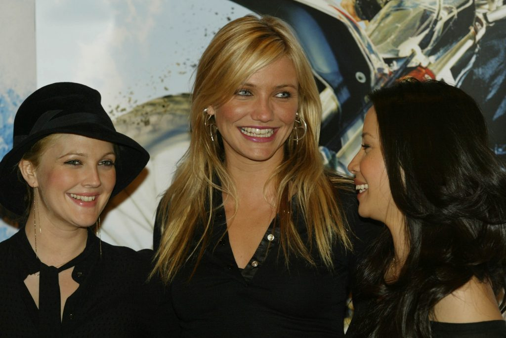 Cameron Diaz with Drew Barrymore and Lucy Liu