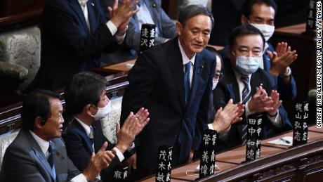 Yoshihid Suga has been praised after being elected Prime Minister of Japan by the lower house of the Diet in Tokyo on September 16.