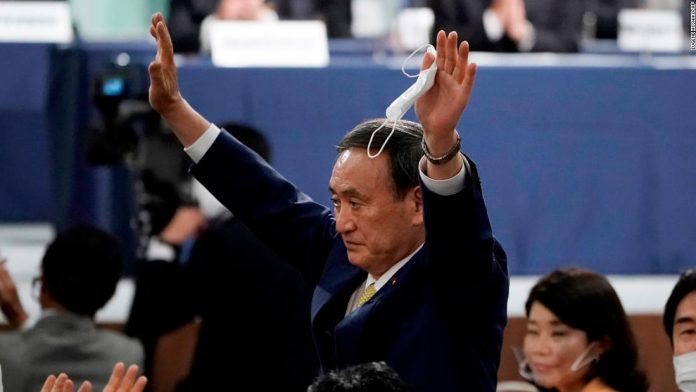 Yoshihid Suga officially replaces Shinzo Abe as Japan's new prime minister